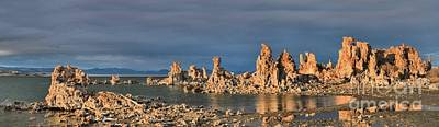 Photograph - Mono Lake Panoramic Reflections by Adam Jewell