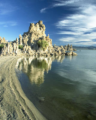 Photograph - Mono Lake Shoreline Rock by Jim Snyder