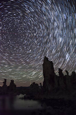 Photograph - Mono Lake Star Trails by Cat Connor