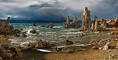 Photograph - Mono Lake Stormy Panorama by Dave Dilli