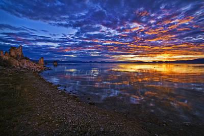 Mono Lake Sunrise Art Print by Priscilla Burgers