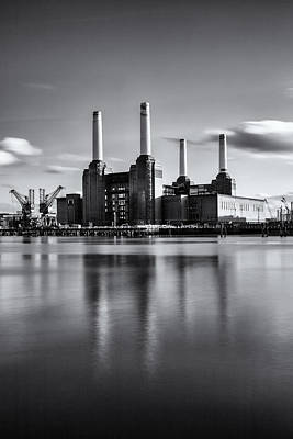 Mono Power Station Art Print