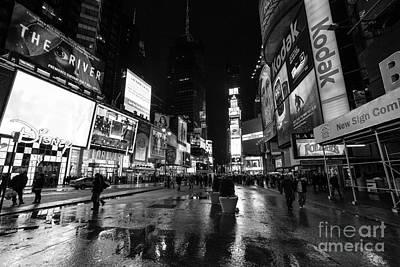 Mono Times Square  Art Print