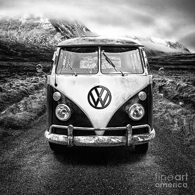 Mono Vw Camper Scotland  Art Print