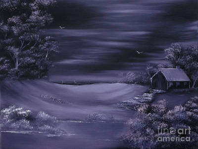 Cynthia-adams-uk Painting - Purple Winter Shroud.sold by Cynthia Adams