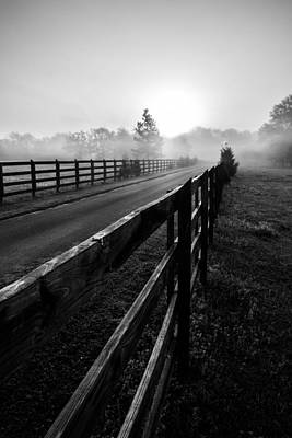 Photograph - Monochrome Fog Path by Shelby  Young