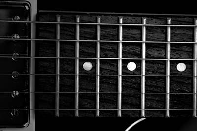 Photograph - Monochrome Fretboard by David Weeks