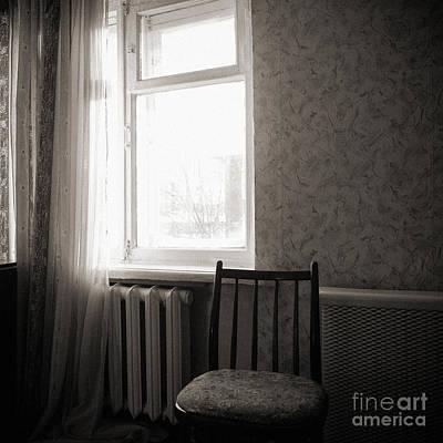 Black And White Nude Photograph - Monochrome Interior 2 by Jochen Schoenfeld