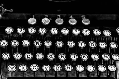 Typewriter Keys Photograph - Monochrome Keys by Georgia Fowler