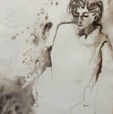 Painting - Monochrome Lady by Paula Day