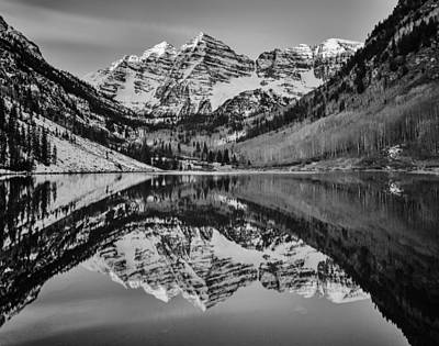 Photograph - Monochrome Maroon by Darren  White