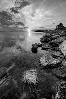 Photograph - Monochrome Shoreline by Scott Bean