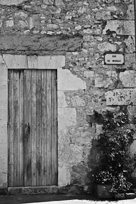 Monochrome Vintage Door Art Print