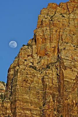Moon Photograph - Monolith And Moon by SC Heffner