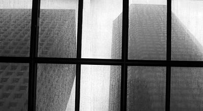Photograph - Monoliths Skylight In Rain Monochrome by Tony Grider