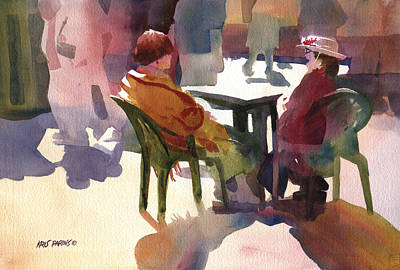 Coffee Painting - Monologue by Kris Parins