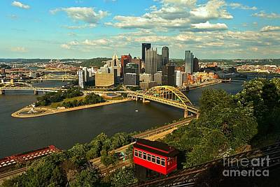 Photograph - Duquesne Incline by Adam Jewell
