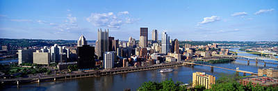 Downtown Pittsburgh Photograph - Monongahela River, Pittsburgh by Panoramic Images