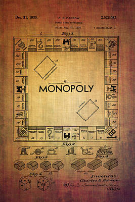 Monopoly Board Game Apparatus From 1935  Art Print by Eti Reid