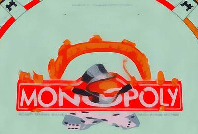 Railroad Park Digital Art - Monopoly Game by Dan Sproul