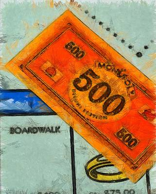 Railroad Park Painting - Monopoly Money by Dan Sproul