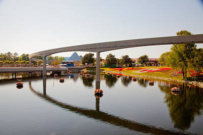 Photograph - Monorail Reflections by Melinda Ledsome