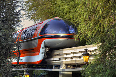 Photograph - Monorail by Ricky Barnard