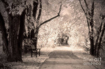 Monotone Autumn Art Print by Tara Turner