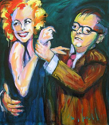 Painting - Monroe And Capote by Les Leffingwell