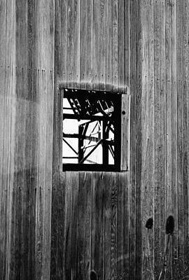 Monroe Co. Michigan Barn Window Art Print by Daniel Thompson