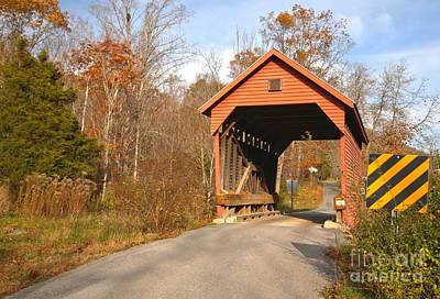 Photograph - Monroe County West Virginia Covered Bridge by Adam Jewell