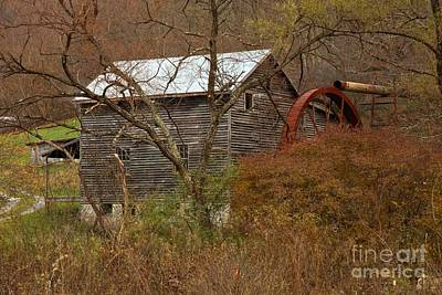 Photograph - Monroe County Wv Grist Mill In The Forest by Adam Jewell