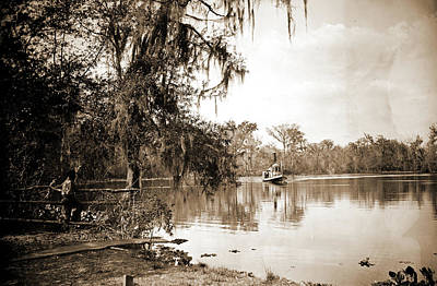 Creek Drawing - Monroe Landing, Rice Creek, Jackson, William Henry by Litz Collection
