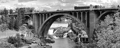 Monroe St Bridge Of Spokane Art Print by Daniel Hagerman