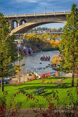 Photograph - Monroe Street Bridge by Inge Johnsson