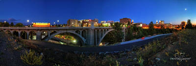 Monroe Street Bridge Panorama Art Print by Dan Quam