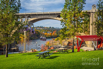 Spokane Photograph - Monroe Street Dam by Inge Johnsson
