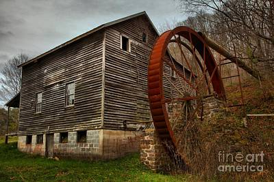 Photograph - Monroe West Virginia Grist Mill by Adam Jewell