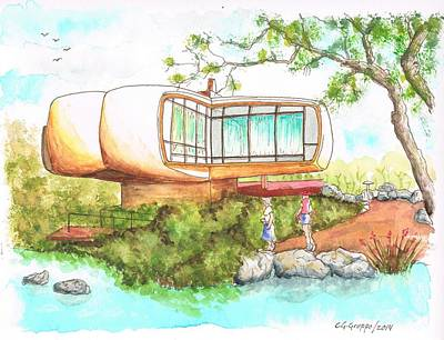 Monsanto House Of The Future In Disneyland - Anaheim - California Original
