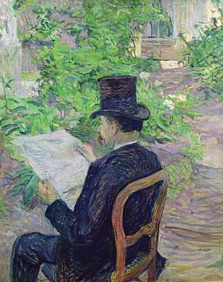 Portraiture Art Painting - Monsieur Desire Dihau by Henri de Toulouse-Lautrec
