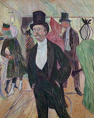 Night Shirt Painting - Monsieur Fourcade by Henri de Toulouse-Lautrec