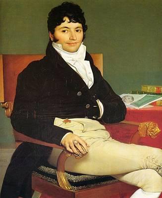 Monsieur Riviere Print by Jean-Auguste-Dominique Ingres