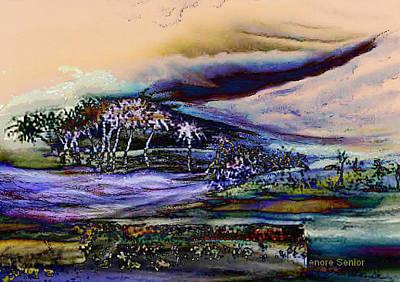 Nature Scene Mixed Media - Monsoon 2 by Lenore Senior