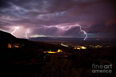 Photograph - Monsoon Lightning Jerome by Ron Chilston