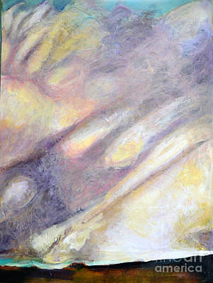 Painting - Monsoon Over Red Rock by Diane montana Jansson