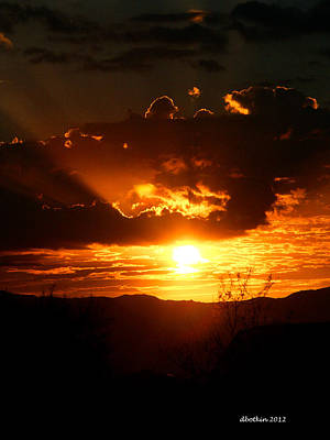 Photograph - Monsoon Sunset by Dick Botkin
