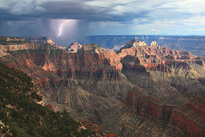 Lightning Photograph - Monsoon Sunset by Mike Buchheit