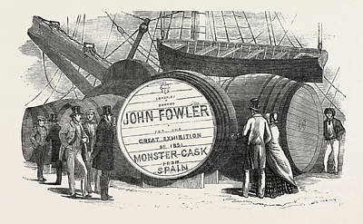 Savage Drawing - Monster Casks Of Sherry In The London Docks by English School