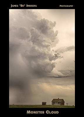 Bo Insogna Photograph - Monster Cloud Poster by James BO  Insogna