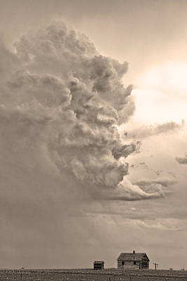 Photograph - Monster Cloud Sepia Country by James BO Insogna